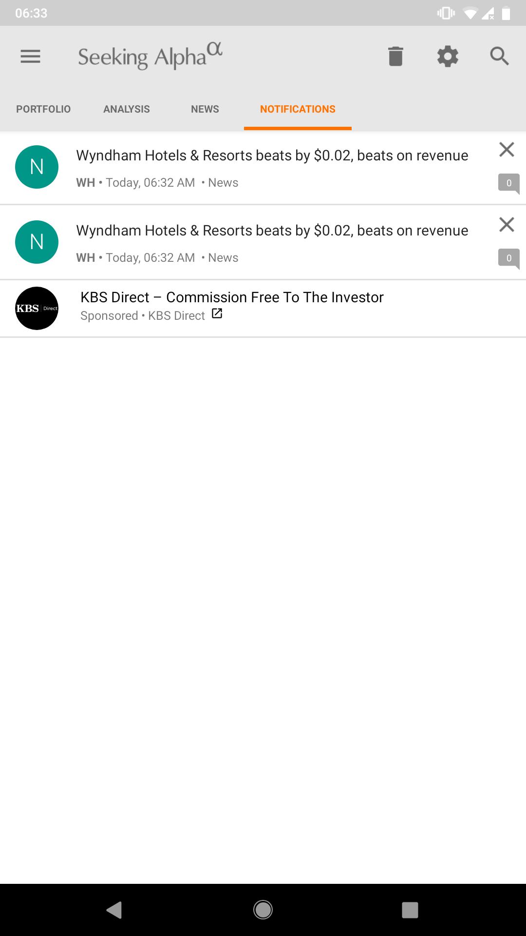 double notifications / Feedback Forum / Seeking Alpha