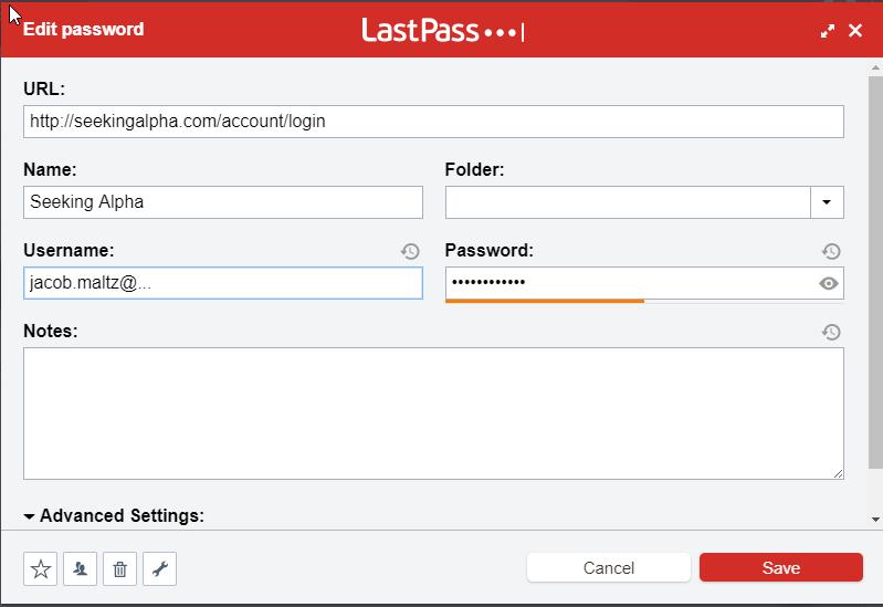 Sign doesn't work with LastPass / Feedback Forum / Seeking Alpha